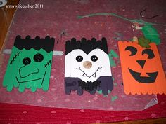 Army Wife Quilter: Pumpkins, Vampire and Frankenstein OH my! popcycle characters