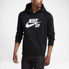 00583f6607ab Nike SB Icon Men s Hoodie - Black Nike Air Force
