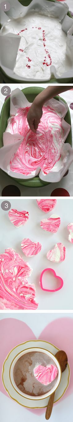 DIY peppermint marshmallows in the sweetest of shapes