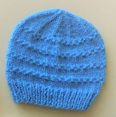 Roman Stitch Baby Hat Ravelry: Roman Stitch Baby Hat pattern by marianna mel Knitting , lace processing is the single most beautiful hobbies t. Baby Hat Knitting Patterns Free, Baby Boy Knitting, Baby Hat Patterns, Knitting For Kids, Knitting Hats, Sweater Patterns, Knit Hats, Free Pattern, Newborn Knit Hat