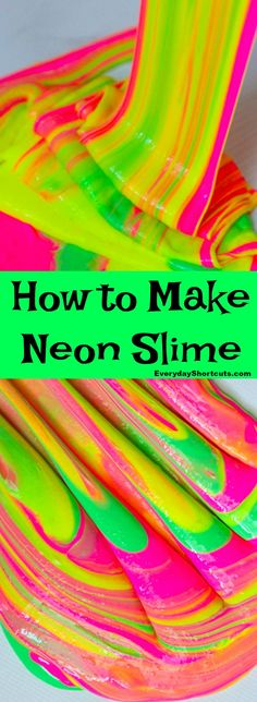 Learn How to Make Neon Slime with this non-borax recipe that's simple to make. It's bright, colorful and fun to play with. Water Games For Kids, Summer Activities For Kids, Crafts For Kids, Family Activities, Library Activities, Indoor Activities, Neon Birthday, 6th Birthday Parties, 10th Birthday