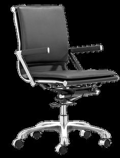 Zuo Modern Lider Plus Office Chair Black | Domino