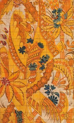 Christopher Baudouin, silk design, 1718  Watercolor on paper