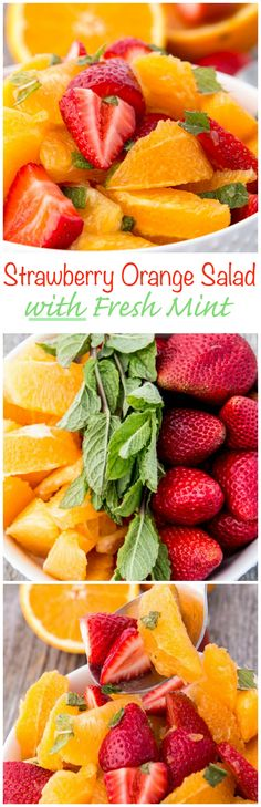 Let's get chopping and make this Strawberry Citrus Salad with Fresh Mint a Summertime Sensation.