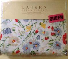2 Pc Ralph Lauren Villa Martine Floral Comforter Twin W