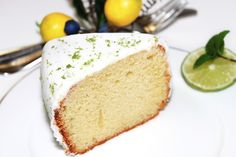 Bolo Chiffon de Lima - Lime Chiffon Cake | Receitas e Sabores do Mundo