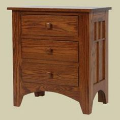 With A Clean, Simple Design And Clean Lines, Our Amish Craftsman Mission  Three Drawer Night Stand Embodies The Age Old Beauty Of Mission Style  Furniture!