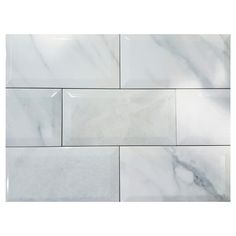 "Ceramic Tile - 4"" x 8"" - Glossy Marble"