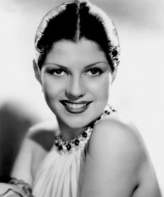 A young Margarita Carmen Cansino, better known as Rita Hayworth.