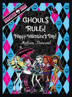 Personalized Monster High Valentine Class Cards for by susanefird