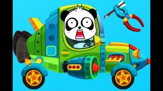 Learn Colors with Little Panda's Auto Repair Shop Colours for Kids Anima...