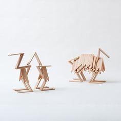 natural Japanese building blocks
