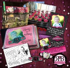 Girl's birthday of Champions. Perfect for your little WWE Fan! Everything you see here Designed by RMB Art & Design https://www.facebook.com/RMBArtAndDesign/