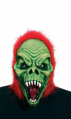 Demon Grinch Halloween Costume Mask