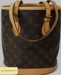 Louis Vuitton Monogram Canvas Bucket Pm Brown Tote Bag $565 just marked down.
