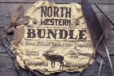 North Western Font + Vectors BUNDLE by Trailhead Design Co. on @creativemarket