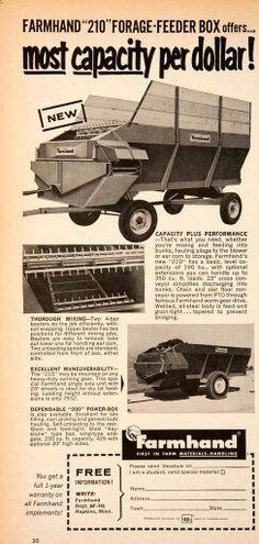 1981 Farmhand XG40 Farm Tub Hay Grinder Print Ad