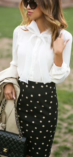 Lace & Locks Bows And Polka Dots Classic Chic Fall Inspo