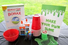 Ghost Buster Birthday Party Make your own Slime