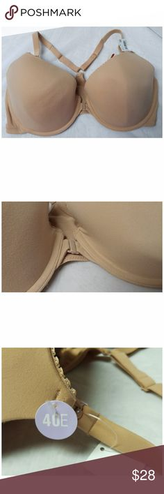 NWT Motherhood Nursing Bra 40DDD / 40E Tan color, front closure, Razor back. No stains, rips, or tears. Tag reads 40E, will fit 30J, 32I, 34H, 36G, 38F, 40DDD/E, 42DD, 44D. From a smoke-free, dog friendly home, No trades and no off-site transactions! (267) Motherhood Maternity Intimates & Sleepwear Bras