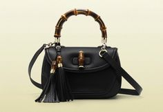 Gucci New Bamboo in pelle nera