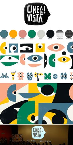 Visual identity design - Cine a la Vista, visual identity by Leo Franchi – Visual identity design Event Branding, Museum Branding, Identity Branding, Event Logo, Branding Agency, Corporate Branding, Kids Branding, Film Identity, Museum Identity