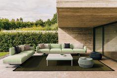 Modern Outdoor Furniture, European Furniture, Outdoor Rooms, Outdoor Sofa, Sofa Design, Furniture Design, Pergola, Milan Furniture, New Interior Design