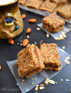 No bake date almond bars, Super easy to make and super tasty and the best part is, kids LOVE them