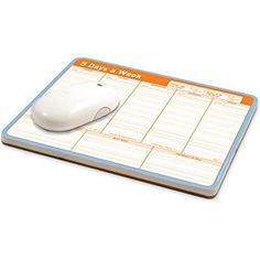 Knock Knock 5 Days a Week Paper Mousepad. A calendar mousepad on paper, to-do notepad & planner mouse pad. Fun desk accessories and cool coworker gift. Cute Best Friend Gifts, To Do List Pad, Cool Desk Accessories, Calendar Pad, Cool Calendars, Personal Library, Organize Your Life, Gifts For Coworkers, Weekly Planner