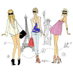 Home - News from Fashion - Drawing Fashion - Paris ❤ liked on Polyvore