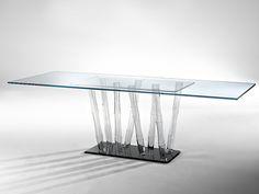 Tavolo cristallo acciaio Mosca DIMA design: | mila | Pinterest