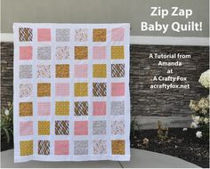 1-1/2 Hour Baby Quilt {The Zip Zap Baby Quilt}