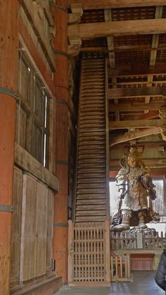 you almost cant call these stairs their so steep. i saw these in Nara japan at the worlds biggest wooden building.