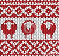 Knitted seamless winter pattern