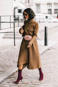 Everyone Is Wearing This Dress Style With Boots via @WhoWhatWear