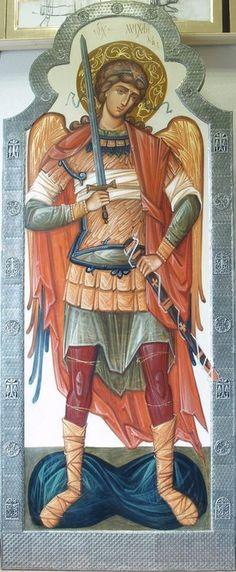 __ Μιχαηλ _ nov 8 ( Rzhanitsina S. Raphael Angel, Archangel Raphael, Byzantine Icons, Byzantine Art, Religious Icons, Religious Art, Angel Warrior, Albrecht Durer, Guardian Angels