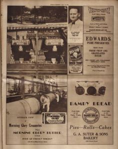 Full page promoting Piggly Wiggly grocery store. Nashville Tennessean, 1928 September :: Picturing Nashville in Rotogravure, Country Stores, Piggly Wiggly, Grocery Store, Nashville, Tennessee, Bakery, September, Pure Products, Bakery Business