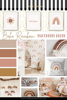 Big Girl Bedrooms, Little Girl Rooms, Girls Bedroom, Bedroom Ideas, Playroom Decor, Baby Room Decor, Nursery Room, Nursery Decals, Boho Nursery