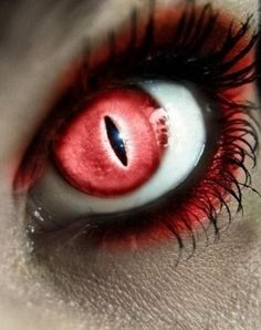 Vampire eyes red contact lenses with demons gloss halloween