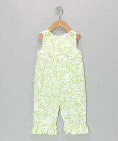 Take a look at this Green & White Overalls - Infant & Toddler by Beehave on #zulily today!