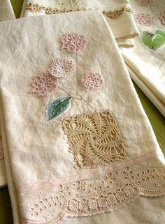 Embellished tea towels