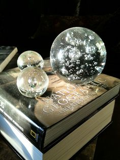 Large glass spheres - IMG_5002 by KWren Turner, via Flickr