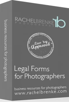 Photographer Contract Templates from Rachel Brenke - not free but worth the money if you're just starting out!