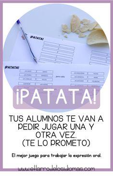 Spanish Lessons, Teaching Spanish, Teaching Kids, Spanish Classroom Activities, Activities For Kids, Flipped Classroom, Kids Education, Literacy, Teacher