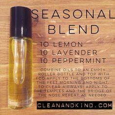 Roller Ball Remedies - with Family Physician Kit oils - Seasonal Blend #lemon #lavender #peppermint #doterra