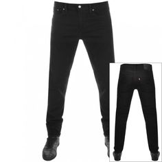 Levi's 512 Slim Taper Jeans Black for men Black Levi Jeans, Black Levis, Jeans Fit, Levis Jeans, Levis 512, Tapered Jeans, Levi Strauss, Black Leather, Menswear