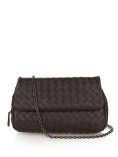 Intrecciato leather cross-body bag by Bottega Veneta | Shop now at #MATCHESFASHION.COM