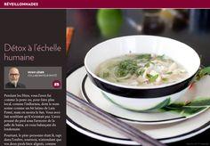 Détox à l'échelle humaine - La Presse+ Ramen, Comme, Ethnic Recipes, Cream Soups, Healthy Meals, Cooking Food, Other, Faking It
