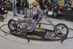 Purple Reign: This winning beauty features a 1984 Harley-Davidson 84ci EVO engine. | San Mateo IMS Ultimate Bike Builder, 1st Place FreeStyle Class: Dalton Walker