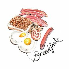 I just love food illustrations, especially when they look sooo tempting!